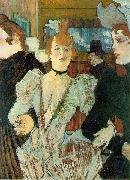 La Goulue arriving at the Moulin Rouge Henri de toulouse-lautrec